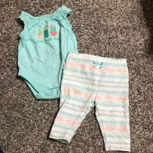 Infant girl tank onesies and pants